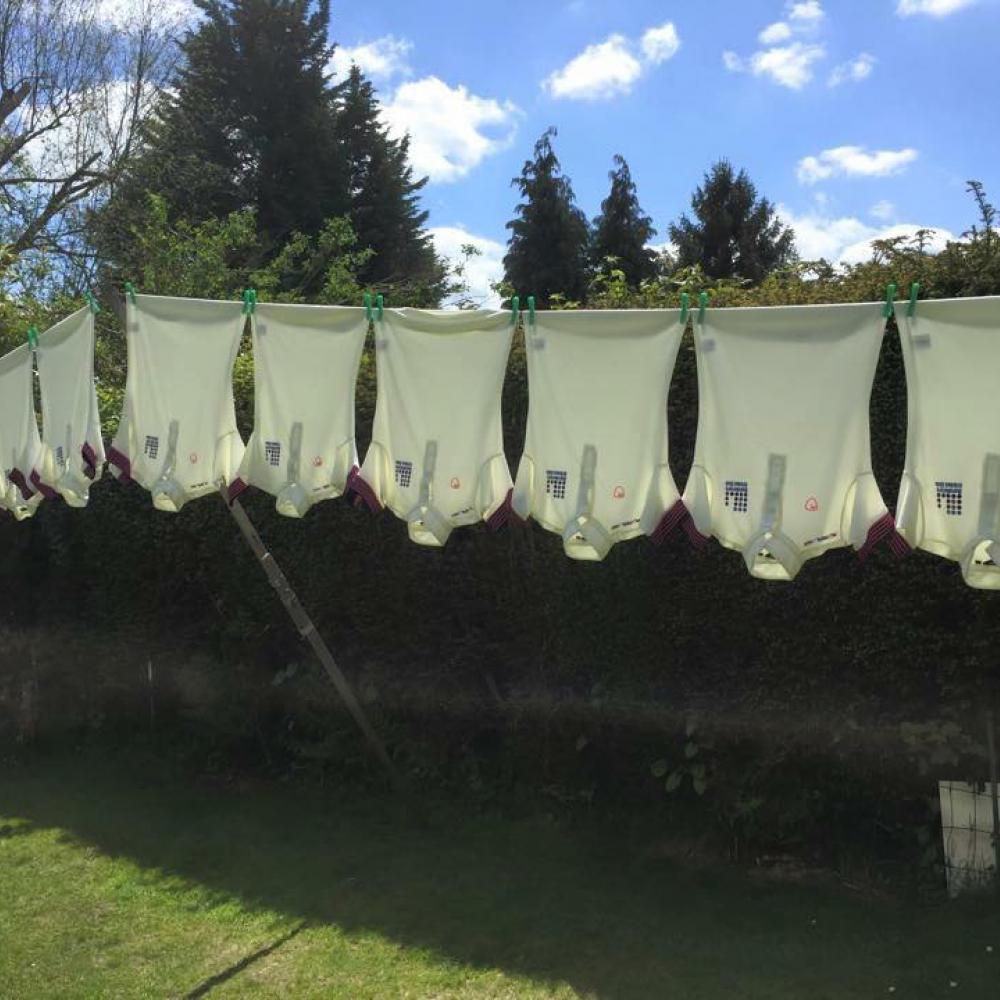 Shirts on the line